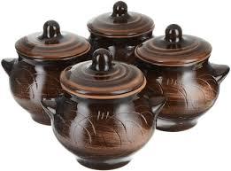 """Набор горшочков для <b>запекания</b> Борисовская керамика """"<b>Старина</b> ..."""