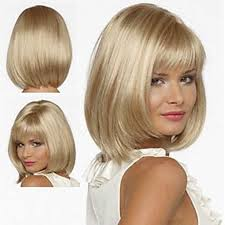 <b>HAIRJOY</b> White <b>Women Synthetic Hair</b> Wigs Blonde Short Curly Wig ...