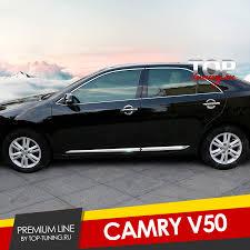 <b>Хромированные молдинги</b> дверей Premium Line на Toyota Camry ...