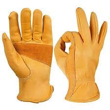 OZERO Leather Gloves,Work Gloves for Working,<b>Gardening</b>,for Men ...