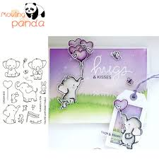 <b>2019 Elephant Friends Metal</b> Cutting Dies and Clear Stamps for ...