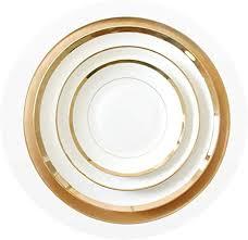 Amazon.com   <b>1pcs</b> Gold Edge <b>China</b> Bone Dinner Plates <b>Round</b> ...