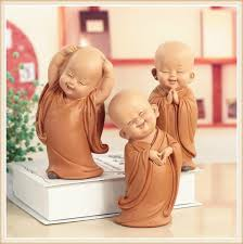 Chinese Resin Hand-carved Buddha Statue Home Decor Cute ...