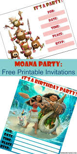 17 best ideas about printable invitations moana birthday party printable invitations