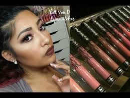 <b>Kat Von D</b> Everlasting Liquid Lipstick Swatches + Review - YouTube