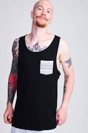 <b>Майка URBAN CLASSICS</b> Contrast Pocket Jersey Big Tank Black ...