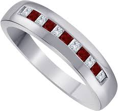 DS Jewels Channel Set Band Ring for <b>Men</b> Womens 14K <b>Gold</b> ...