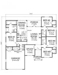 Sq Ft b b w study Min extra space House Plans by Korel Home        Traditional Bedroom Bath Craftsman   office and split floor plan