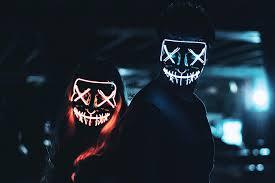 2 PCS Halloween Mask Light up Mask Cosplay LED ... - Amazon.com