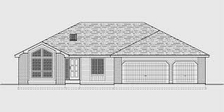 Sprawling Ranch House Plans  House Plans With Basement House front drawing elevation view for Sprawling Ranch house plans  house plans   basement