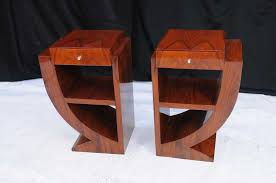 about pair art deco bedside tables nightsands bedroom furniture art deco furniture style art deco armchair