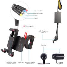 VSYSTO <b>Motorcycle</b> 2CH Dash Cam (<b>Wi-Fi</b>, SONY IMX323 ...