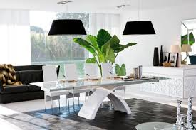 Dining Room Tables Contemporary Extending Glass Dining Table Contemporary Modern Furniture Tower