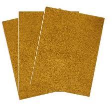 Eva Foam <b>Glitter</b> Sheet Set of 12 Bala Color Gold