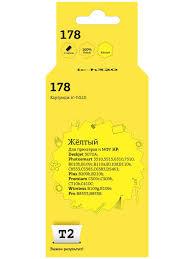 <b>Картридж T2 IC</b>-H320 №178 (HP CB320H/320/178), желтый <b>T2</b> ...