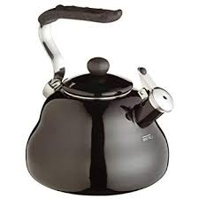 VonShef Stainless Steel Stove Top Kettle – <b>Retro Style</b> Whistling ...