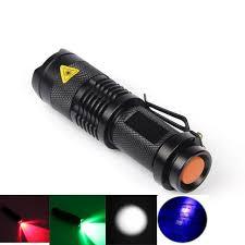 2019 <b>LED</b> Red/Green/<b>White</b>/UV Flashlight <b>SK68</b> Purple Violet <b>Light</b> ...
