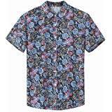 <b>Men</b> Short Sleeve <b>Shirt</b> Casual <b>Hawaiian Flower Floral</b> Leaf Party ...