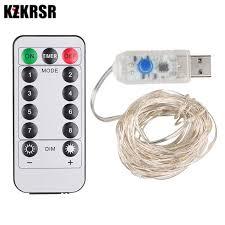 KZKRSR <b>DC5V USB 5M</b> 10M LED Silver Copper Wire String Lights ...