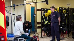 factual storytelling in video bbc r d a fireman being interviewed in front of a 360 video camera