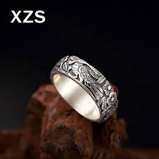 2019 100% Authentic <b>999 Sterling Silver Phoenix</b> Sculpture Rings ...