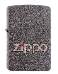 Купить <b>зажигалка ZIPPO латунь</b> с покрытием Iron Stone™ серая с ...