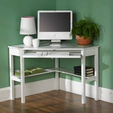 astounding art deco white painted wooden corner computer table with bottom shelf computer desk small room art deco desk computer