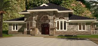 Arch Porch Bungalow House Plan   David Chola   Architecthouse plans in Kenya