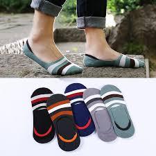 <b>5 pairs</b>/<b>lot</b> Invisible socks men's silicone non-slip spring <b>summer</b> cott ...