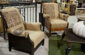 this project as time consuming and tricky as it was turned out to be a labor or love the chairs found a renewed and refreshed look instead of their burlap furniture