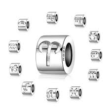 <b>JewelryPalace</b> Engraved Star <b>Zodiac</b> Beads Charms Fit Bracelets ...