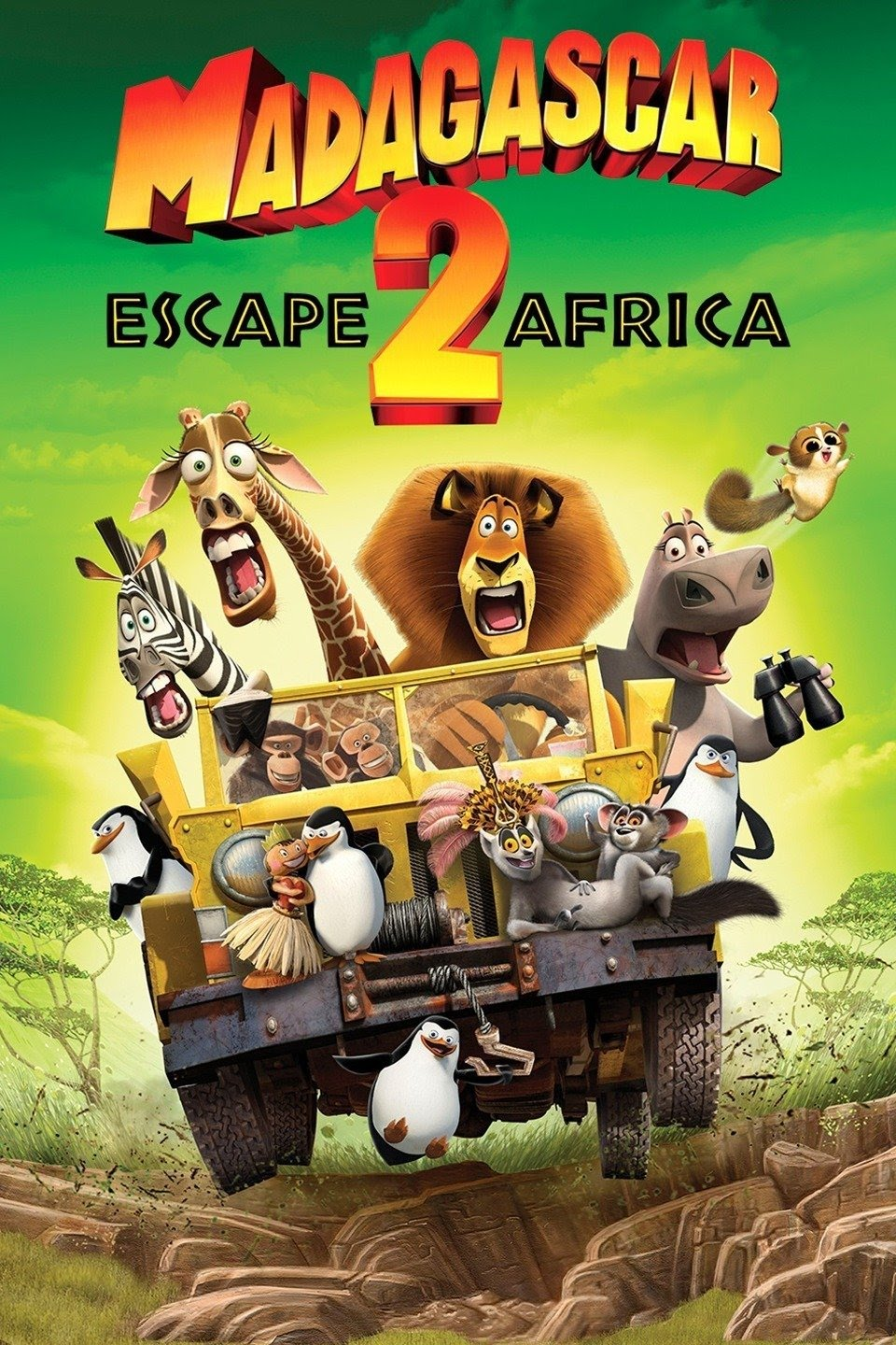 Madagascar: Escape 2 Africa (2008) {Hindi-English} 480p | 720p
