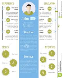 modern resume design in green and blue stock vector image 50260391 modern resume design in green and blue