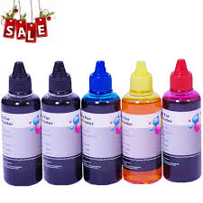 2018 <b>5</b> X <b>100ml</b> Universal <b>Dye Ink Refill</b> Kit Replace For 664 ...
