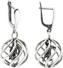 Серебряные <b>серьги</b> с подвесками <b>ФИТ</b> 68891-<b>f</b> — купить в AllTime ...