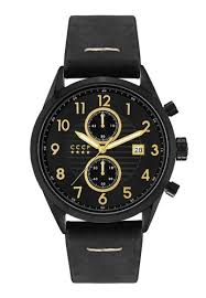 Buy <b>CCCP CCCP</b> Men's <b>Black</b> Genuine Leather Strap Watch - CP ...