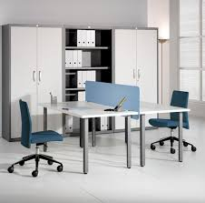 awesome contemporary office interior design plain face to face modern table sets with big locker beside alluring cool office interior designs awesome