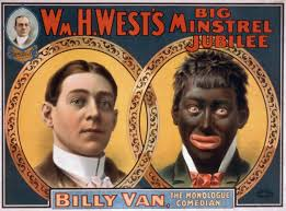 cultural appropriation published by the strobridge litho co shows the transformation of a white american actor using blackface makeup blackface was both a cultural