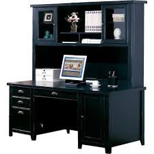 estate black computer desk with hutch by sauder black computer desks