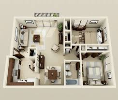 Two  quot   quot  Bedroom Apartment House Plans   Architecture  amp  Design  Contemporary Two Bedroom