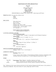 college applicant resumes template college applicant resumes