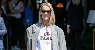 Celine Dion I <b>Heart</b> Paris Hilton Tee and Blue <b>Heart Necklace</b> ...