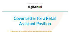 retail assistant cover letter sample retail assistant cover letter