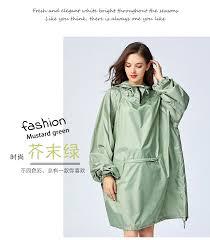 <b>Yuding Woman Raincoat</b> Polyester Outdoors Thick Rain Poncho ...