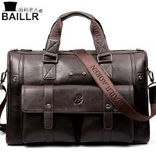 <b>BAILLR Brand Man Bag</b> Leather Black Briefcase Men Business ...