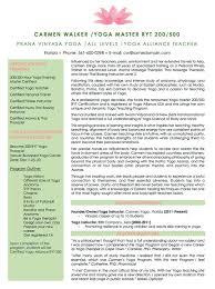 resume examples cv sample resume templates rso resumes 3 yoga teacher bio sample