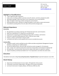 resume format for summer training