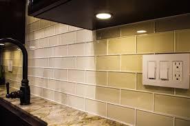 subway tile backsplash glass kitchen backsplash ocean glass tile on the outside no glass edging necessary f