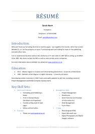 brief resume of skill sets sarah keen