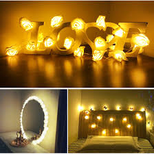 Rose Fairy <b>LED String Lights</b> Battery <b>Makeup Mirror</b> Vanity Light ...